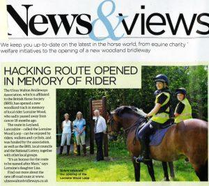 Opening of Lorraine Wood Loop Paper Article